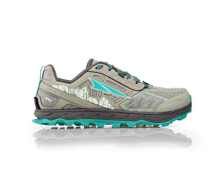 ALTRA buty do biegania trailowe damskie z membraną LONE PEAK 4.0 RSM szaro-turkusowe
