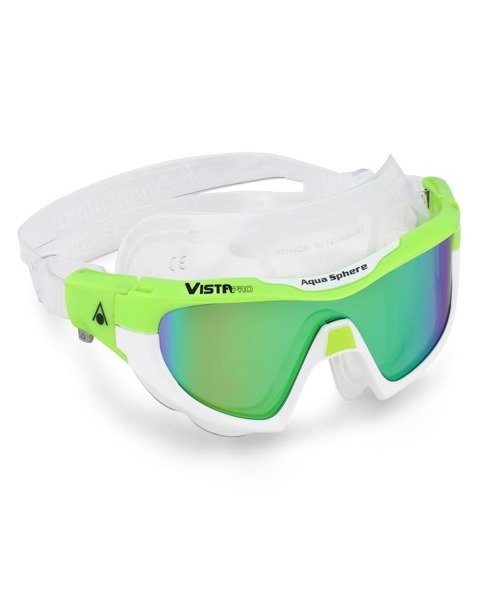 AQUA SPHERE okularki/maska pływacka VISTA PRO zielone lustrzane