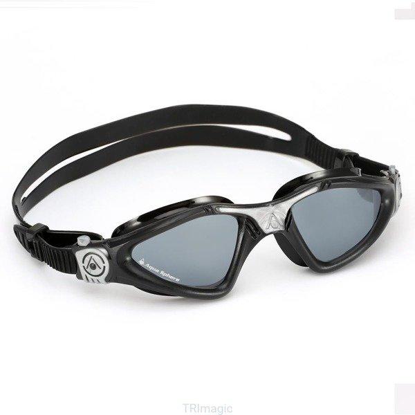 AQUA SPHERE okularki pływackie KAYENNE czarno-srebrne