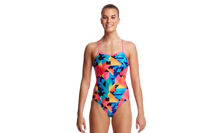 af468ff34225e3 ... FUNKITA Strój kąpielowy damski jednoczęściowy SINGLE STRAP ONE PIECE  Colour Burst ...