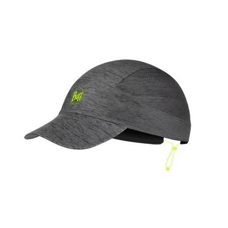 BUFF Czapka biegowa z daszkiem PACK RUN CAP Patterned R-Grey HTR