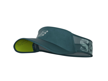 COMPRESSPORT Daszek Visor Ultralight BORN TO SWIM BIKE RUN 2019 zielony