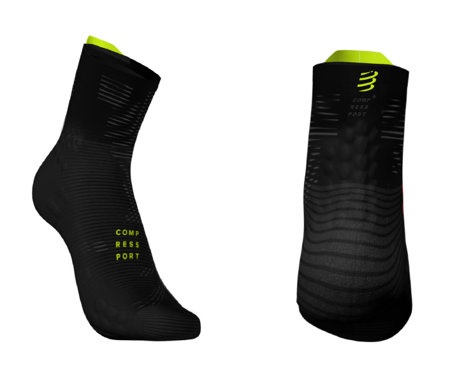 COMPRESSPORT Skarpetki do biegania długie ProRacing Socks v3.0 BLACK EDITION 2019 czarne