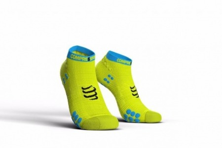 COMPRESSPORT Skarpetki do biegania krótkie ProRacing Socks v3.0 fluo zółte