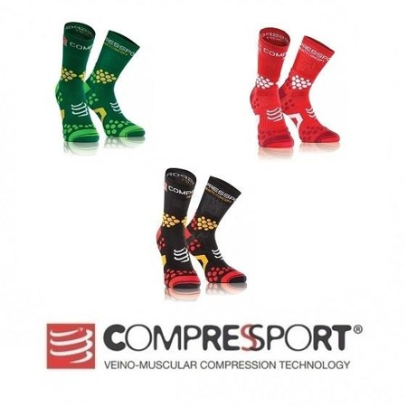 COMPRESSPORT Skarpetki do biegania trailowe Pro Racing V2.1 Czarne