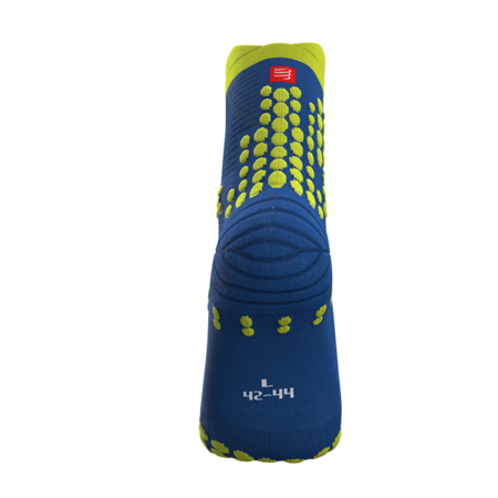 COMPRESSPORT Skarpetki do biegania trailowe ProRacing Socks v3.0 niebiesko-żółte