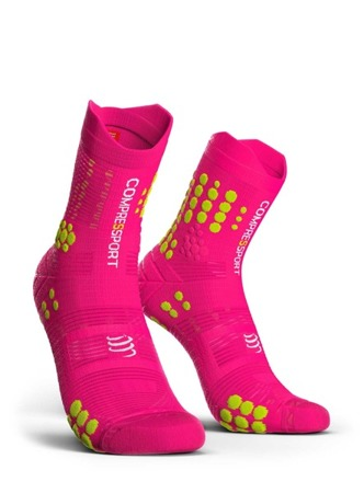 COMPRESSPORT Skarpetki do biegania trailowe ProRacing Socks v3.0 różowe