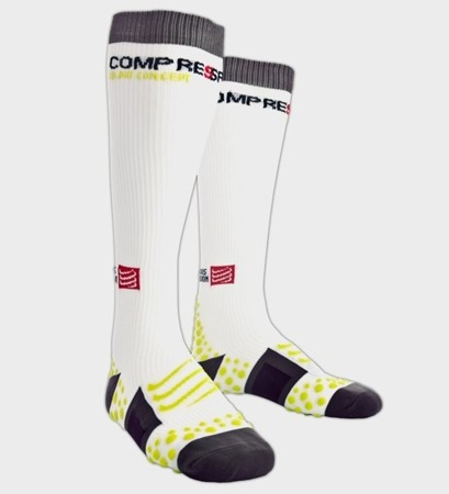 COMPRESSPORT Skarpety kompresyjne Full Socks v1 Białe