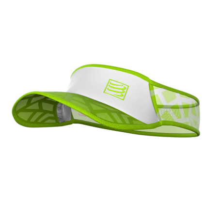 COMPRESSPORT daszek SPIDERWEB ULTRALIGHT VISOR biało-zielony
