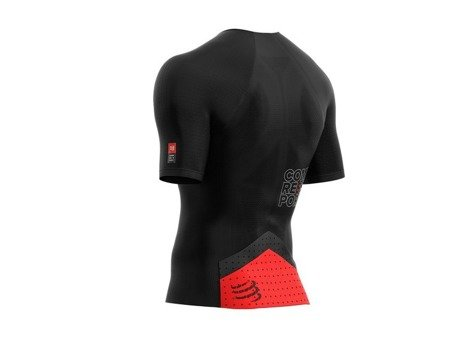 COMPRESSPORT triathlonowa koszulka kompresyjna TRIATHLON POSTURAL AERO TOP czarna