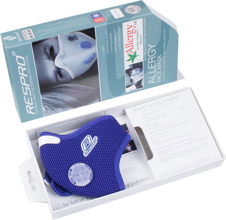 RESPRO Maska antysmogowa ALLERGY MASK BLUE